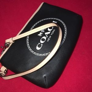 SOLD! COACH Large Horse Carriage Saffiano Wristlet